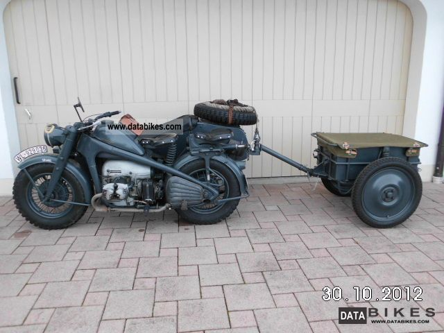 Zundapp  Zündapp KS 750 with trailer Cpl 1 + 1 KS in 750 parts 1944 Vintage, Classic and Old Bikes photo