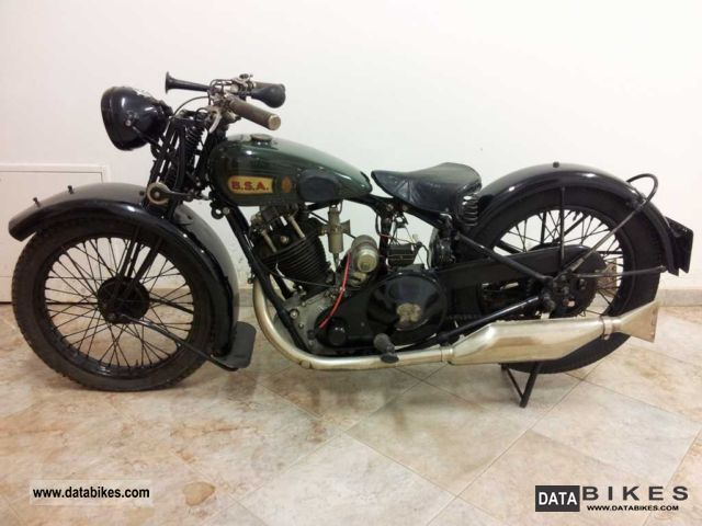 BSA  500 OHV Slooper 1930 Vintage, Classic and Old Bikes photo
