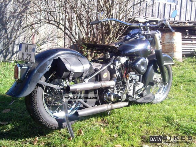 Harley Davidson  FL1200 Hydra Glide Year 57 S & S rigid bobber 1957 Vintage, Classic and Old Bikes photo