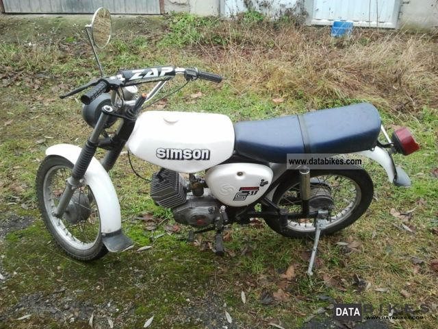 2000 Simson  S51 Motorcycle Motor-assisted Bicycle/Small Moped photo