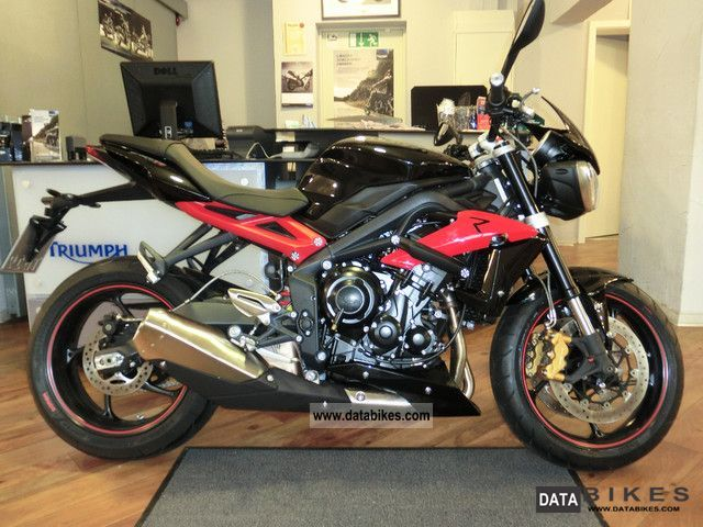 2012 Triumph  Tiple R Street NEW Launch Package Motorcycle Naked Bike photo