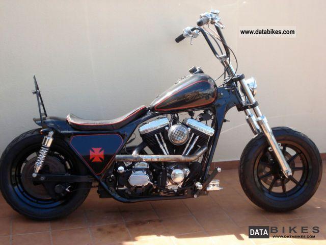 1989 Harley Davidson  FLT Bobber Chopper Motorcycle Chopper/Cruiser photo