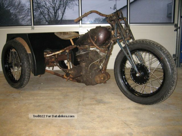 1937 Indian  Dispatch Tow Motorcycle Trike photo