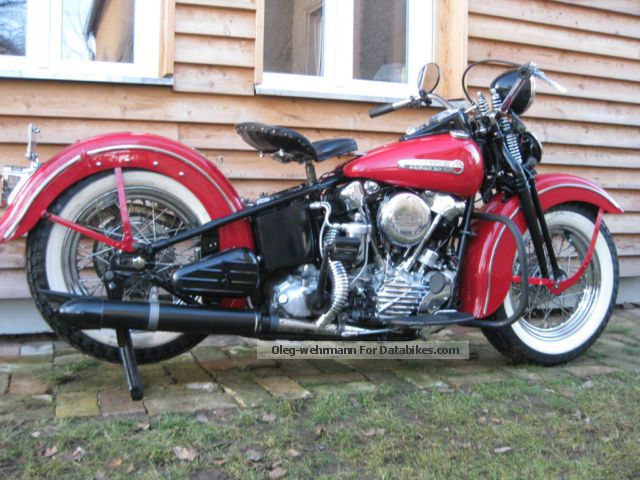 Harley Davidson  Knucklehead FL 1200 vintage 1947 Motorcycle photo