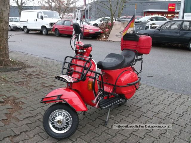 Vespa  PX 125 2 Hand Orig much more accident-free elite-suitcase 1981 Scooter photo
