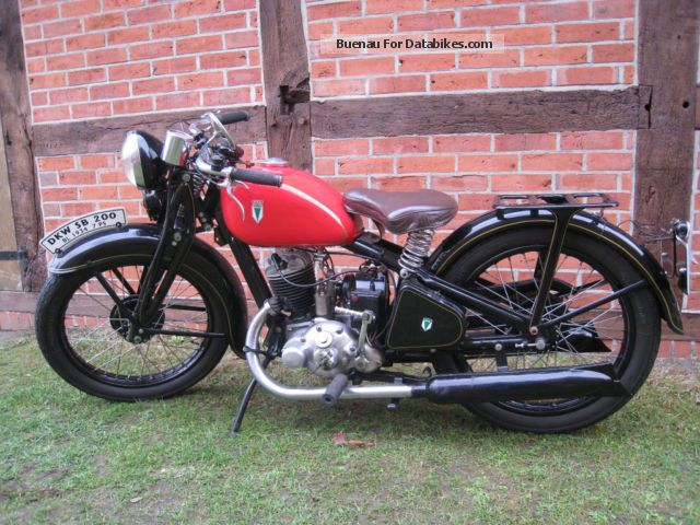 DKW  SB 200 1934 Vintage, Classic and Old Bikes photo