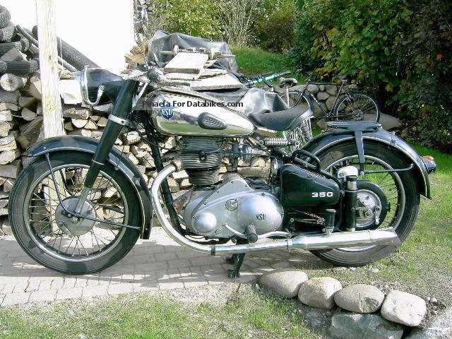 NSU  Consul 350 1953 Vintage, Classic and Old Bikes photo