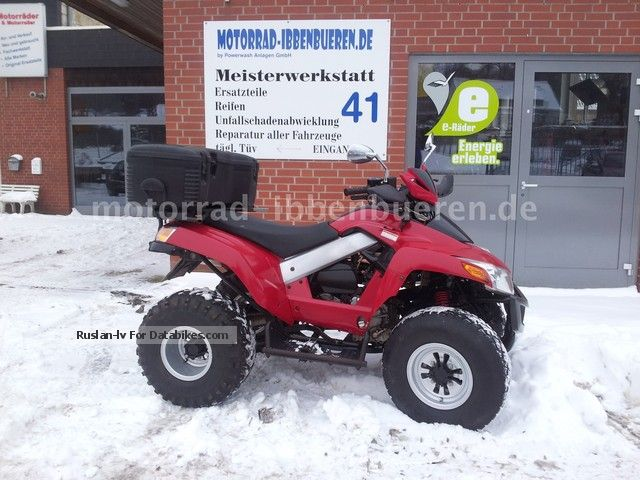 SYM  Quad Lander 250 ATV with suitcase great condition 2005 Quad photo