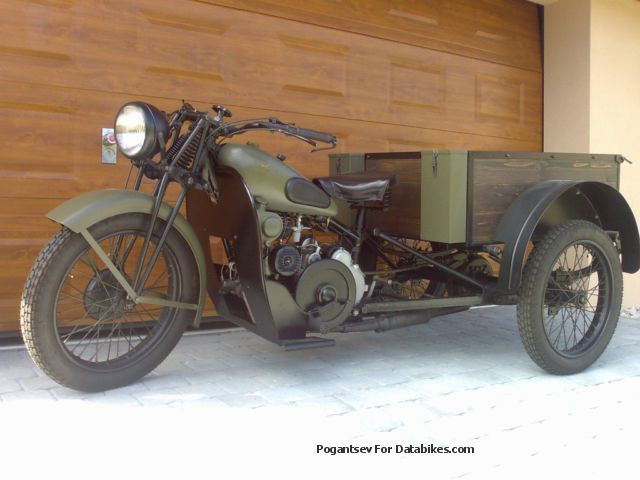 Moto Guzzi  mototriciclo militare 109/32 1932 Vintage, Classic and Old Bikes photo