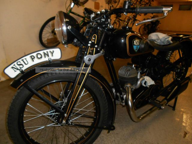 NSU  ZD201 Pony 1934 Vintage, Classic and Old Bikes photo