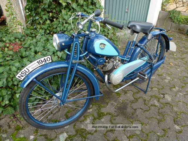 NSU  Ladies Quwick 1940 Vintage, Classic and Old Bikes photo