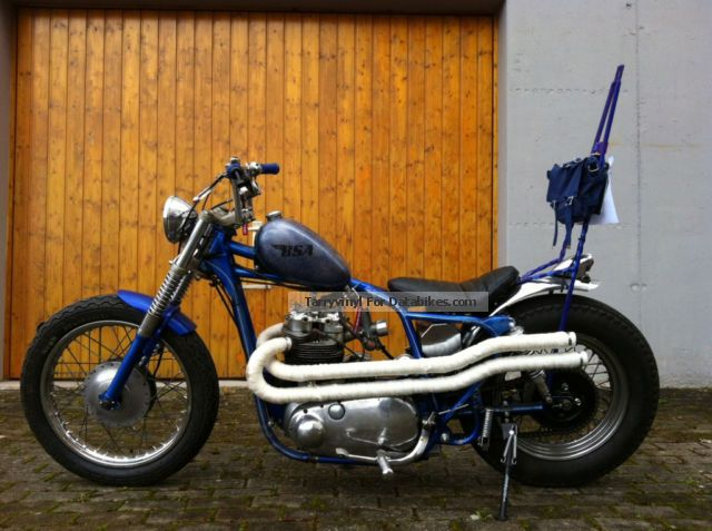 1957 BSA  A7 Chopper Bobber Old School Hot Rod Motorcycle Chopper/Cruiser photo