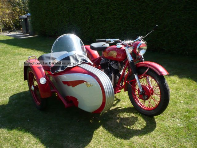 1944 Indian  Chief Motorcycle Combination/Sidecar photo