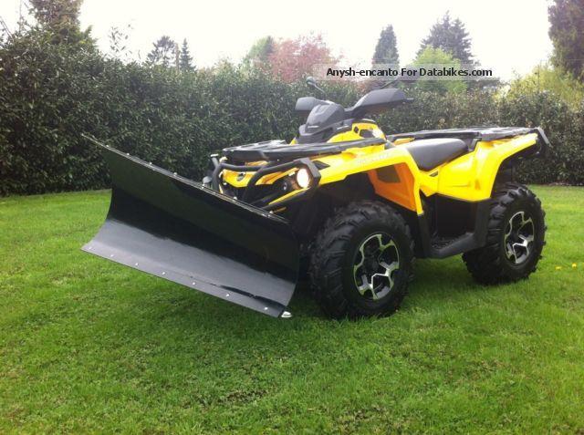 2012 Can Am  OUTLANDER 800 XT LOF 560 KM SCHNEESCHILD Motorcycle Quad photo