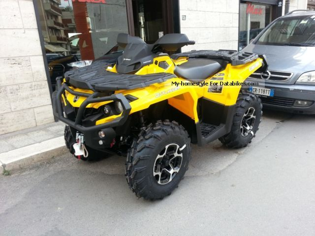 2012 Can Am  outlander 800 xt Motorcycle Quad photo