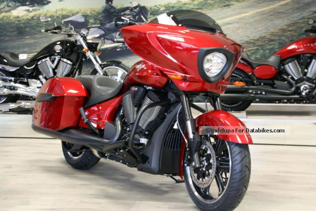 2012 VICTORY  Cross Country Sunset Red Blacked Out Motorcycle Chopper/Cruiser photo