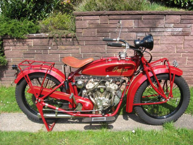 Indian  Scout 37 1924 Vintage, Classic and Old Bikes photo