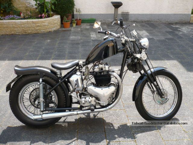 1953 BSA  A10 Motorcycle Chopper/Cruiser photo