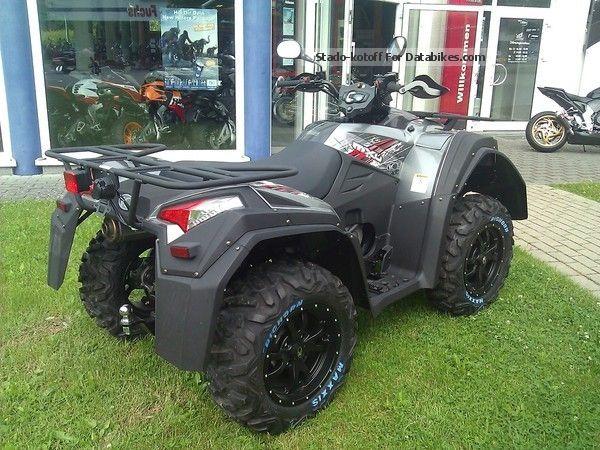 quad kymco 700 test