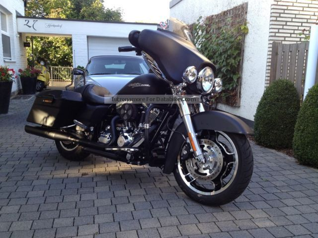 2012 Harley Davidson  Harley-Davidson Street Glide FLXH Denim Slim matte black Inz Motorcycle Motorcycle photo