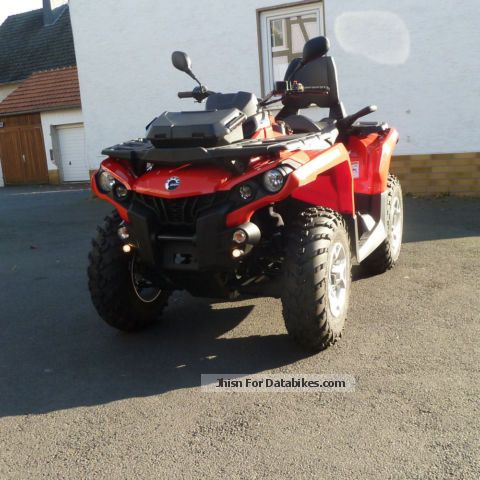 2012 Can Am  Outlander Max 500 DPS special model in red Motorcycle Quad photo
