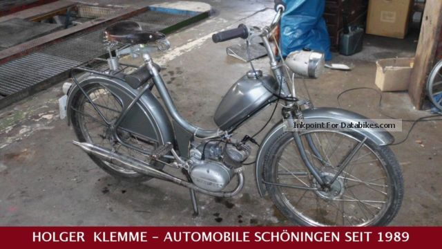 1964 Hercules  VINTAGE MOPED Saxonette / SUPERMATIC Motorcycle Motor-assisted Bicycle/Small Moped photo