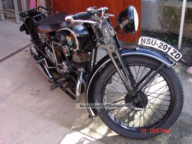 NSU  Pony 201 ZD 1934 Vintage, Classic and Old Bikes photo
