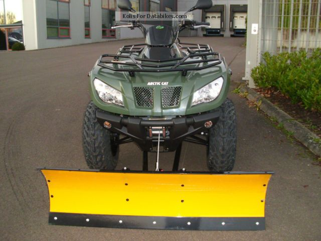 2012 Arctic Cat 400 4x4 With Winch And Snow Plow