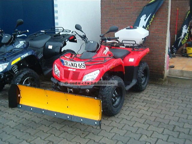 2013 Arctic Cat  AC450 - WINTER SERVICE - with snow plow spreader + Motorcycle Quad photo