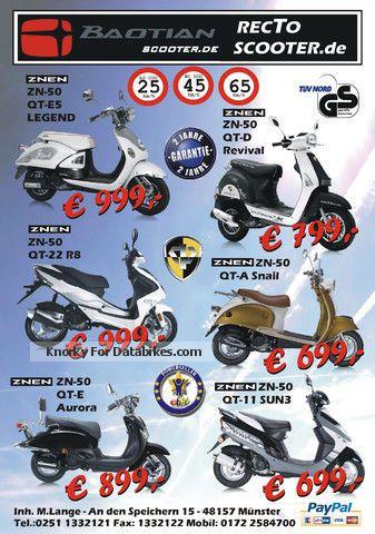 2012 Baotian FALCON 7 NEW 25km / h 45km / h moped