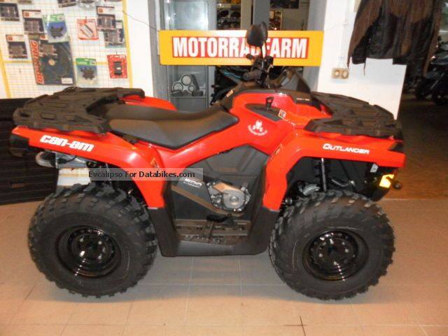 Can Am  Outlander 500, 4x4 `, Lof / tractor NEW! 2013 Quad photo
