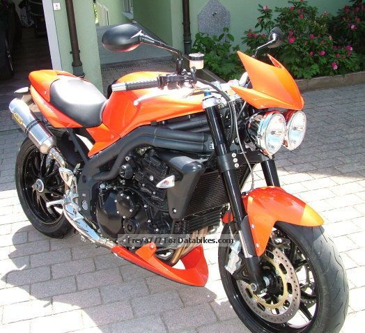 2008 Triumph  Speed Tripple Motorcycle Streetfighter photo