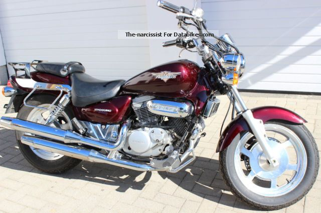 2002 Hyosung  AQUILLA TWIN HEADLIGHT, TUV NEW, car drivers license Motorcycle Chopper/Cruiser photo