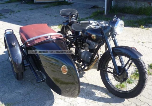 Simson  AWO 425 T with Stoye sidecar 1951 Vintage, Classic and Old Bikes photo