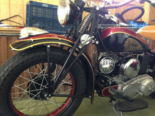 Indian  SCOUT Bj 1942 value system matching numbers! 1942 Vintage, Classic and Old Bikes photo