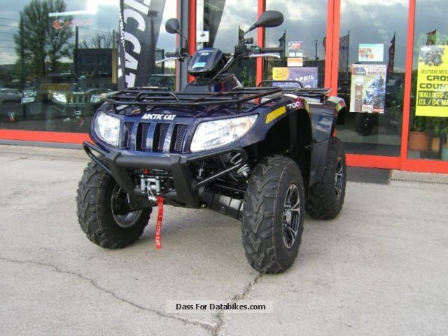 2012 Arctic Cat  700i XT 4x4 LOF EFP, power steering, winch, trailer hitch Motorcycle Quad photo