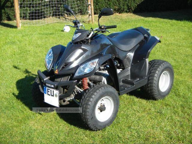 2010 Daelim  ET 300 with platform trailer Motorcycle Quad photo