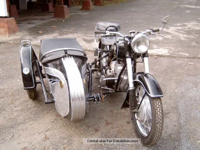 1955 Mz  BK350 Motorcycle Combination/Sidecar photo