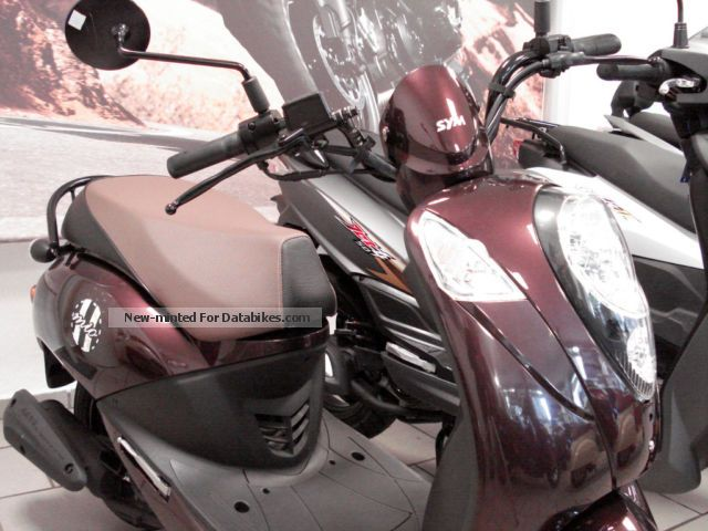 2014 SYM  50 million red coffee presenter 5 km Full warranty Motorcycle Scooter photo