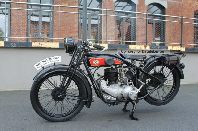 NSU  301 T 1930 Vintage, Classic and Old Bikes photo
