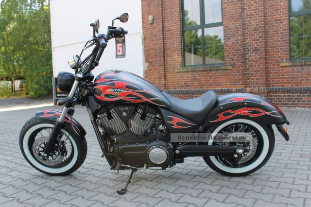 2014 VICTORY  Highball Flame Miller exhaust 5-year warranty Motorcycle Chopper/Cruiser photo