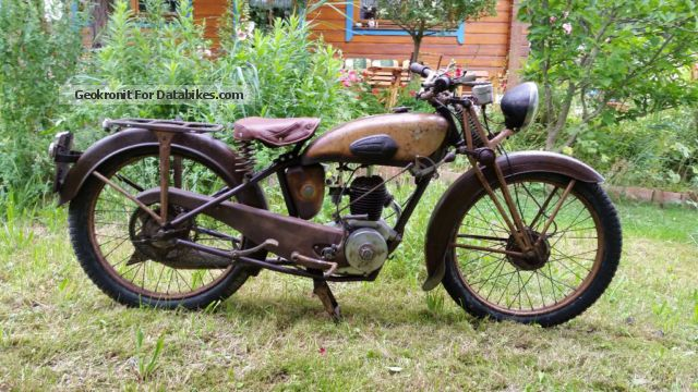 MBK  Motobecane AB1 BJ1937, 100cc 4 stroke, TÜV 1937 Vintage, Classic and Old Bikes photo