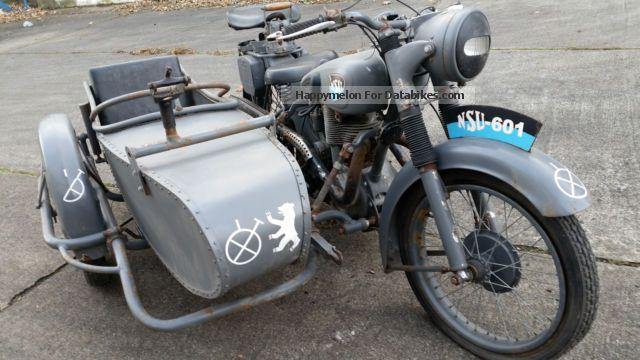 1937 NSU  601 Motorcycle Combination/Sidecar photo