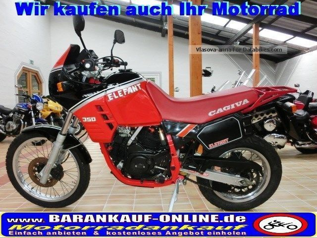 1991 Cagiva  ELEPHANT 350 +2 Hd + orig.15200 KM + collector condition Motorcycle Enduro/Touring Enduro photo