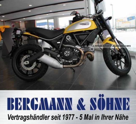 2015 Ducati  Scrambler Icon z62 yellow Motorcycle Motorcycle photo