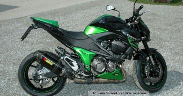 2013 Kawasaki  Z800 Acrapovic Motorcycle Naked Bike photo