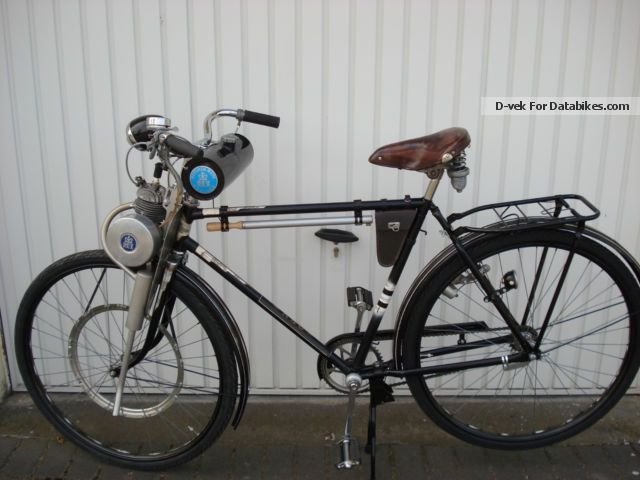 1951 nsu rex vintage bicycle auxiliary engine for Little motors for bicycles