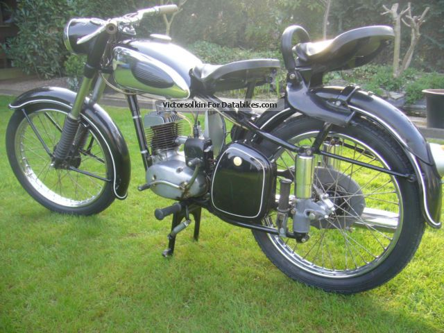 1956 Mz  125/2 Motorcycle Motor-assisted Bicycle/Small Moped photo