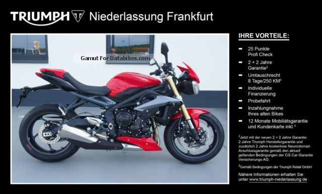 2015 Triumph  Street Triple ABS with 4 years warranty! * Motorcycle Sports/Super Sports Bike photo