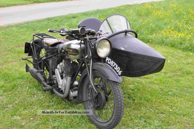 Royal Enfield  HS tandem with Jawa sidecar 1931 Vintage, Classic and Old Bikes photo